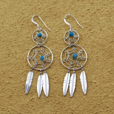 Double Dream Catcher Earrings