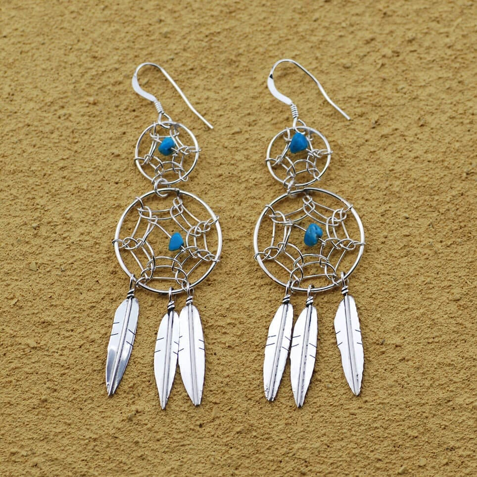 Double Dream Catcher Earrings