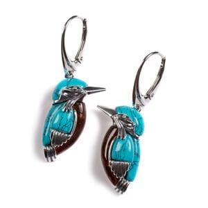 Kingfisher Bird Earrings