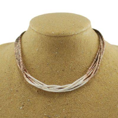 Olive Shell 5 Strand Necklace