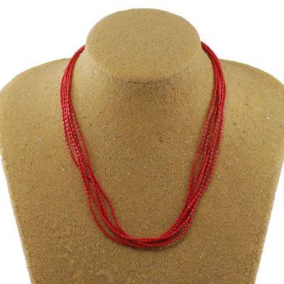 5 Strand Sea Bamboo Necklace