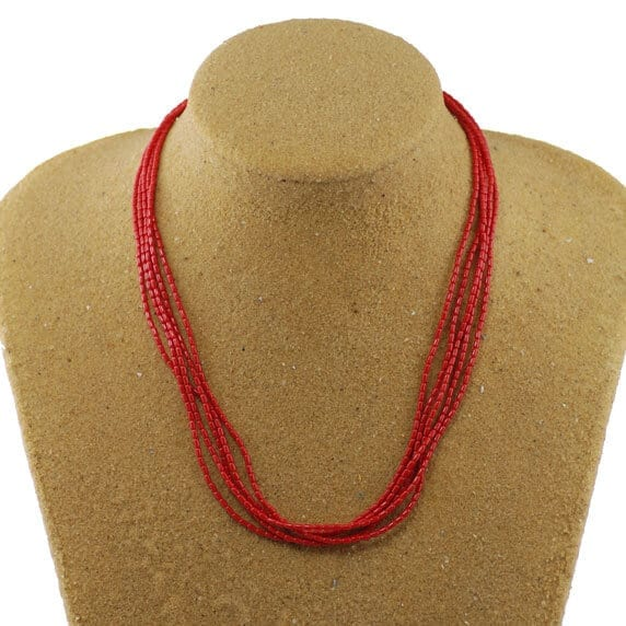 5 Strand Sea Bamboo Necklace