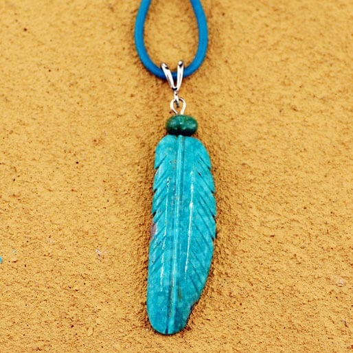 Stacey Turpin Turquoise Feather Pendant