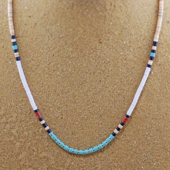 Heshi Style Native American Beaded Necklace