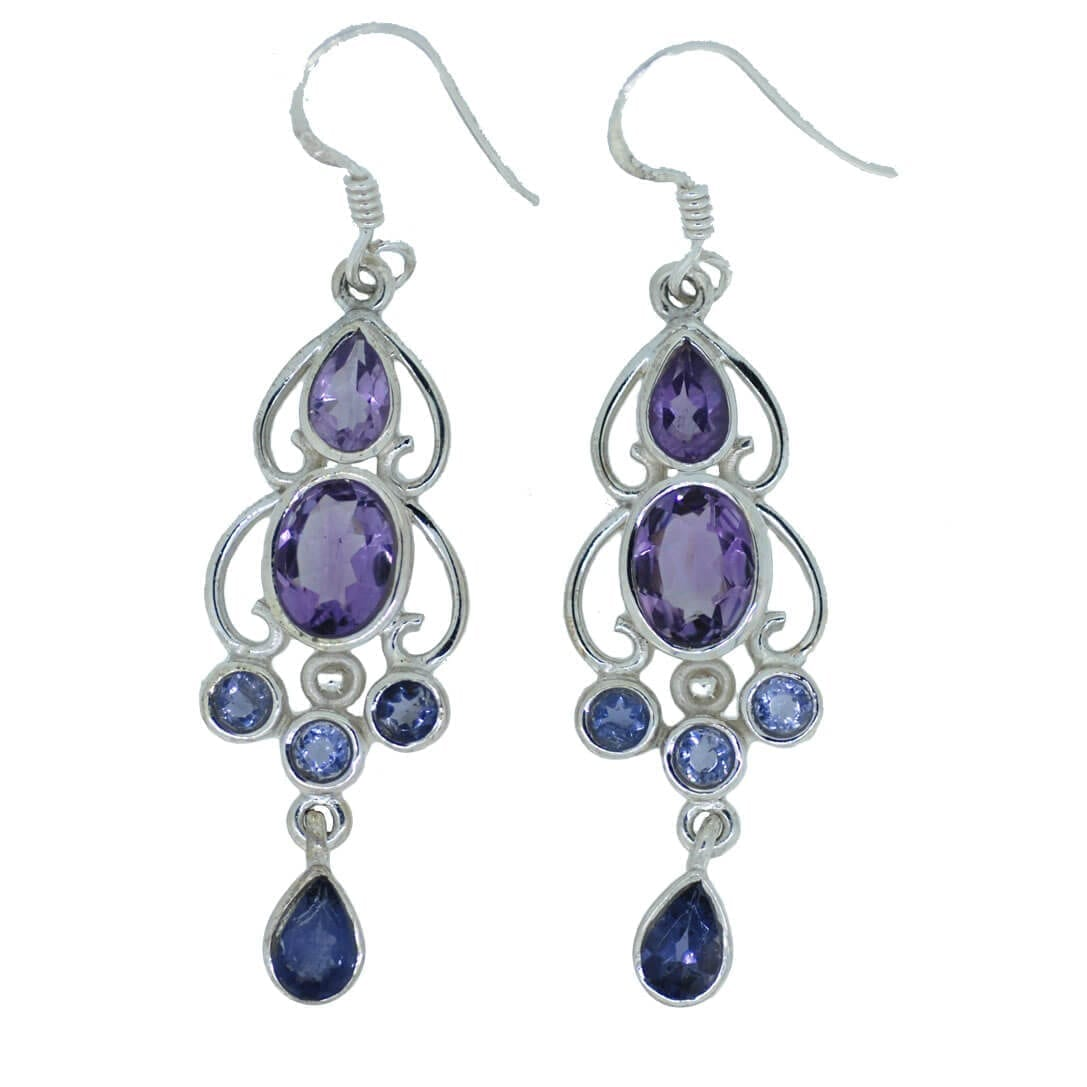 Limited Edition Faceted Amethyst Earrings