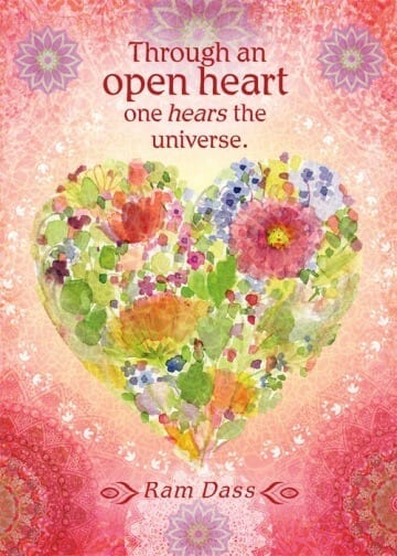 Through an Open Heart Card