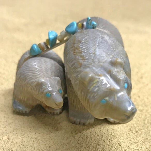Farlan Quam Bear Pair Zuni Fetish