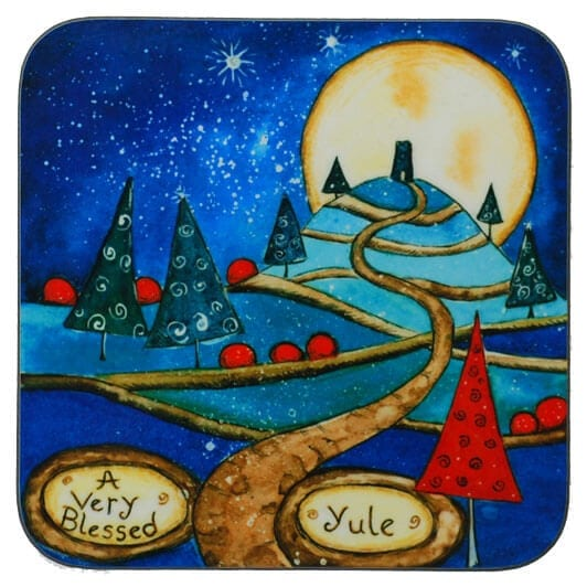 blessed yule coaster 34234