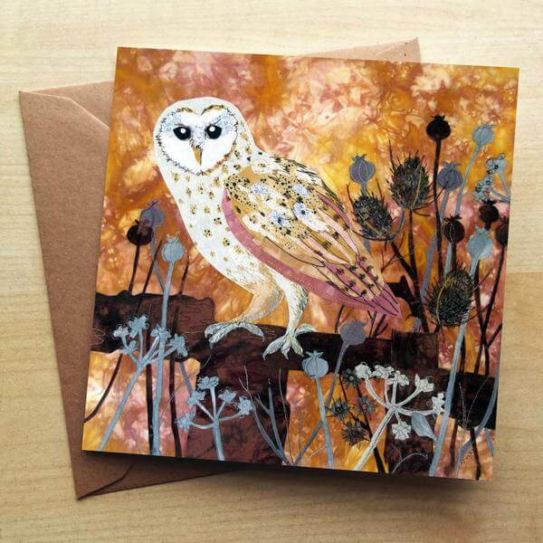 Autumn Barn Owl Card
