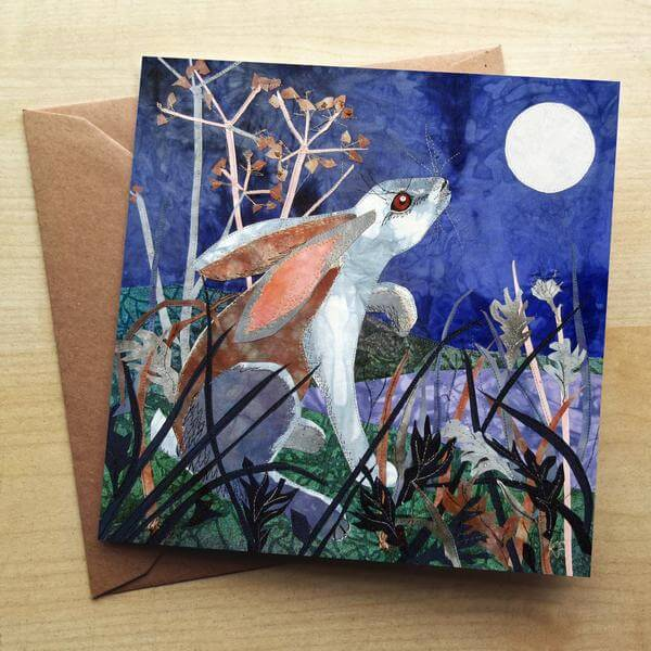 Moonlight Hare Card