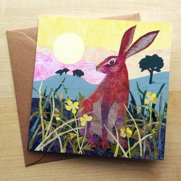 Sunrise Hare Card