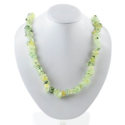 prehnite necklace 7026