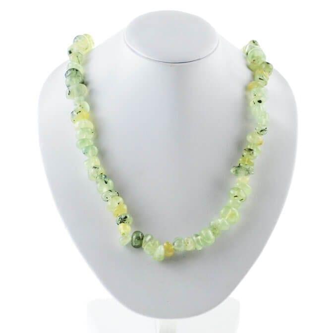 prehnite necklace 7026