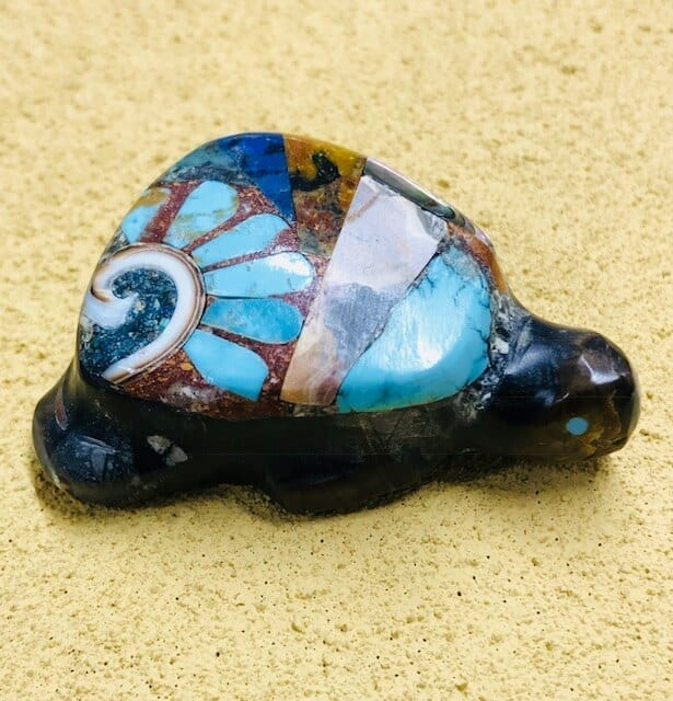 Picasso Marble Turtle Fetish by Jane Quam