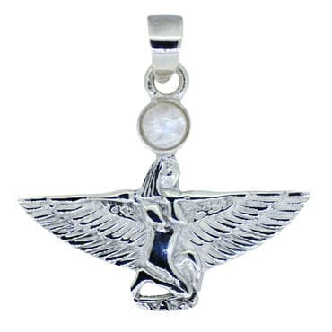Isis Pendant With Rainbow Moonstone Cabochon 5301