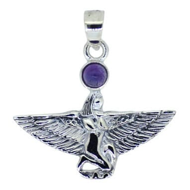 Isis Pendant With Amethyst Cabochon 5302