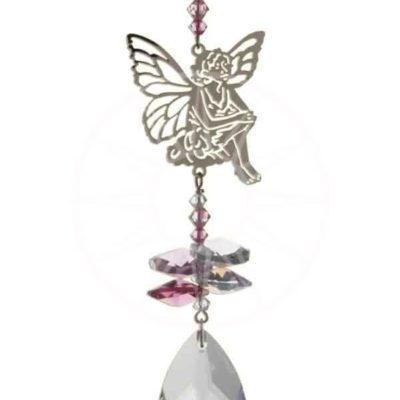 Crystal Fantasy - Sitting Fairy - Pink