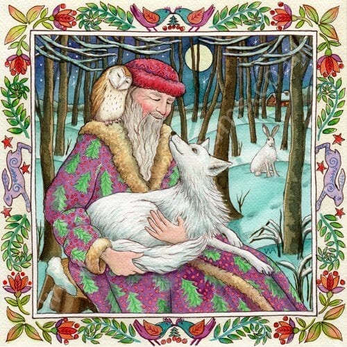 Yule Forest Secrets Card by Wendy Andrew
