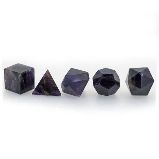 Amethyst Geometric Shape Set