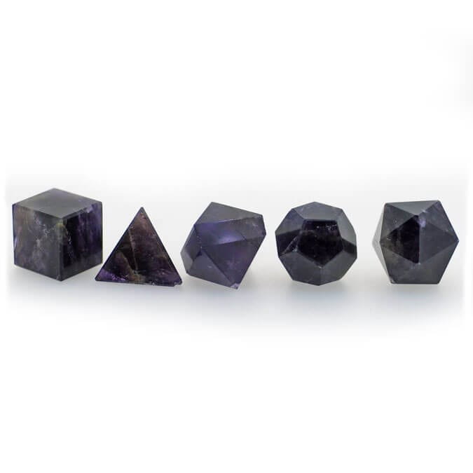 Amethyst Geometric Shape Set