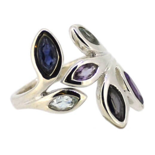 Amethyst Leaf Ring Size R