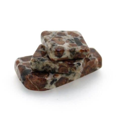 Garnet in Limestone Slice 6764