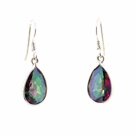 Mystic Topaz Teardrop Earrings 2.4 grams