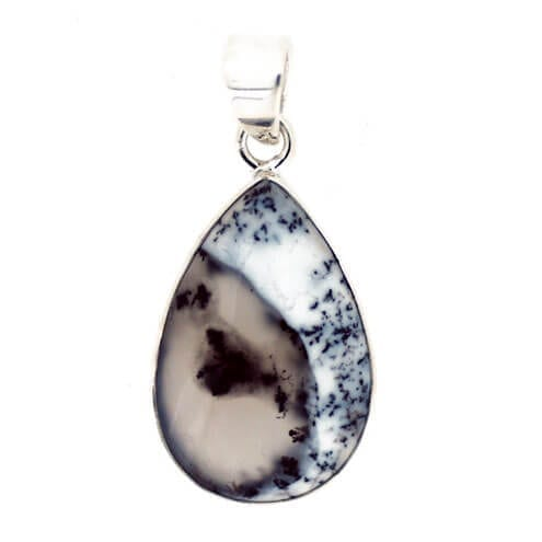 Merlinite Pendant 4.5 grams (Dendritic Opal)