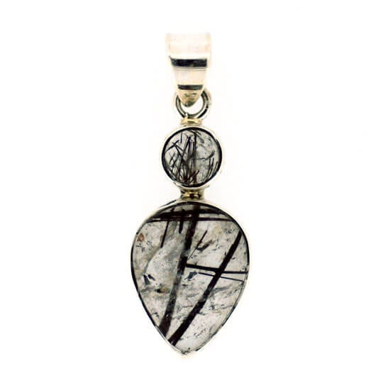 Tourmalinated Quartz Goddess Pendant 3.3 grams