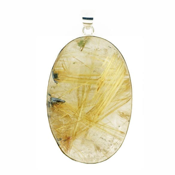 Large Rutilated Quartz Pendant 55.3 grams