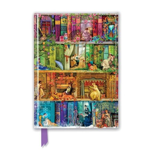 Aimee Stewart - A Stitch in Time Bookshelves (Foiled Journal)