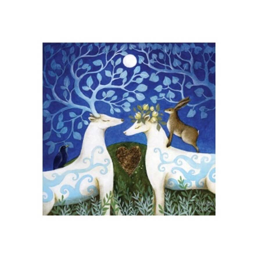 Handfasting In The Moonlight Card by Amanda Clark