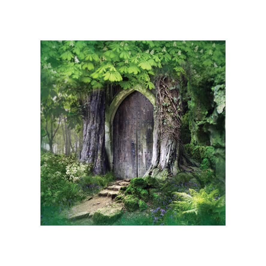 Temple in the Forest Card by Angie Latham