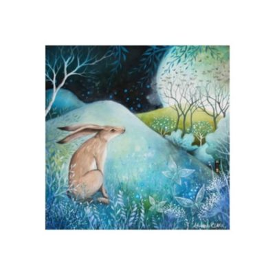 The Hare and Moon Card by Amanda Clark