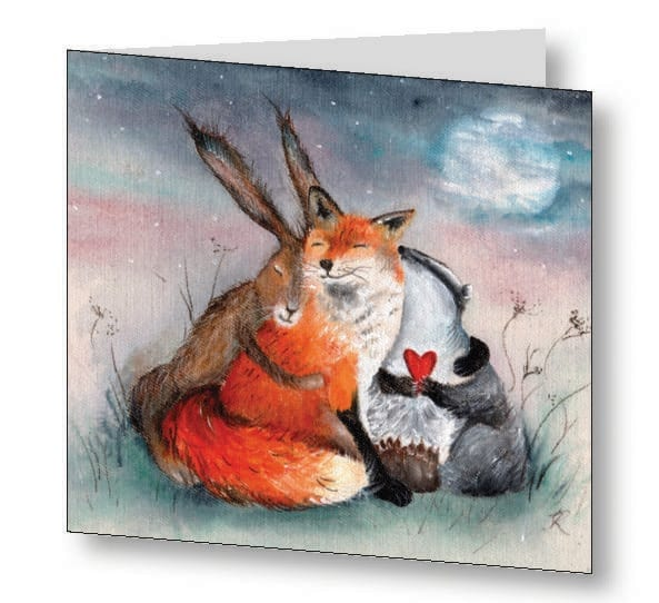 Peace & Huggles Card