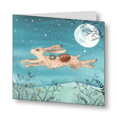 The Flight of The Moon Hare Card