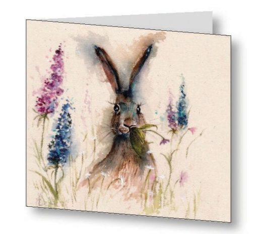 Munching In The Flower Garden Card