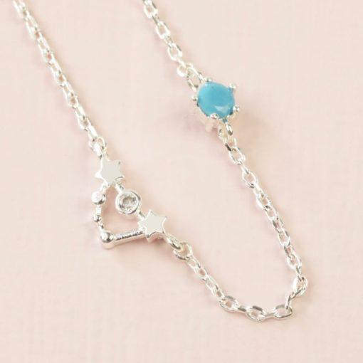 Capricorn Constellation & Birthstone Necklace