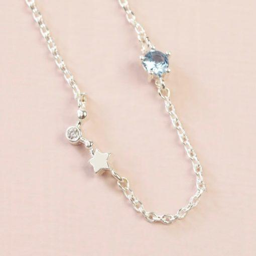 Aries Constellation & Birthstone Necklace