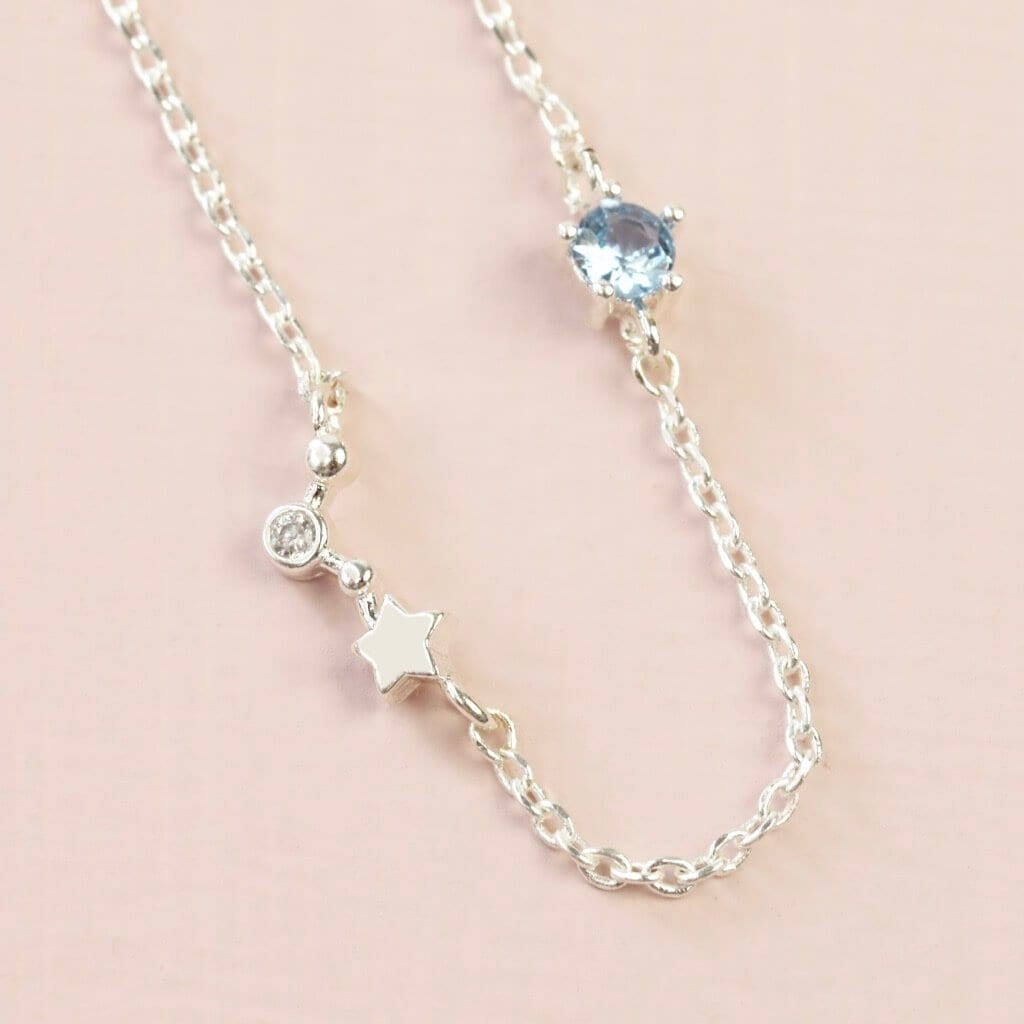 Aries Constellation & Birthstone Necklace