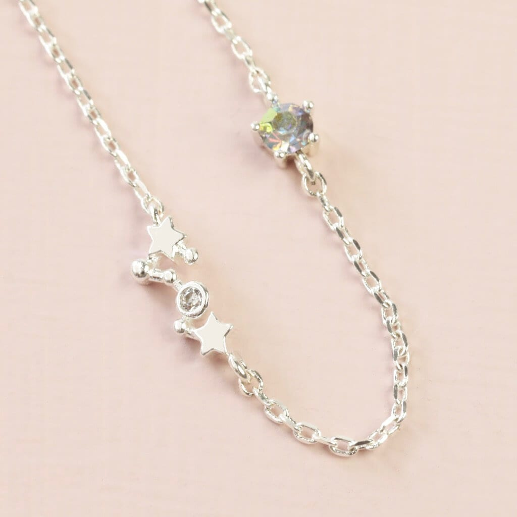 Scorpio Constellation & Birthstone Necklace