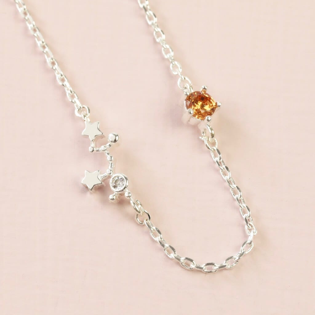 Sagittarius Constellation & Birthstone Necklace