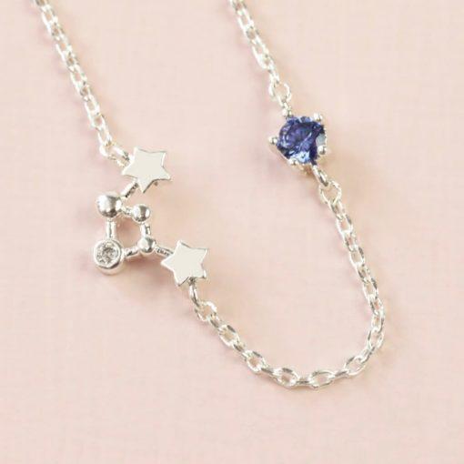 Libra Constellation & Birthstone Necklace