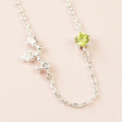 Virgo Constellation & Birthstone Necklace