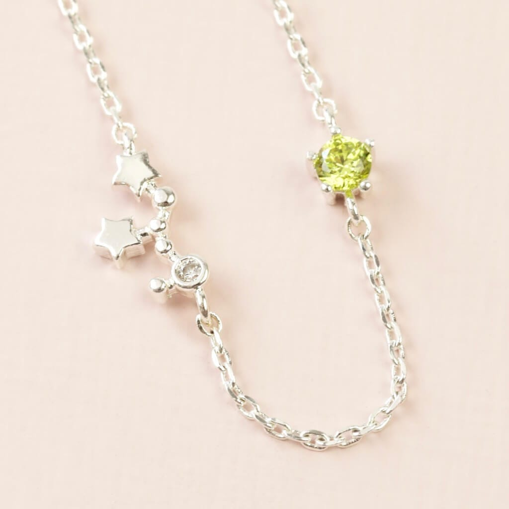 Virgo Constellation & Birthstone Necklace