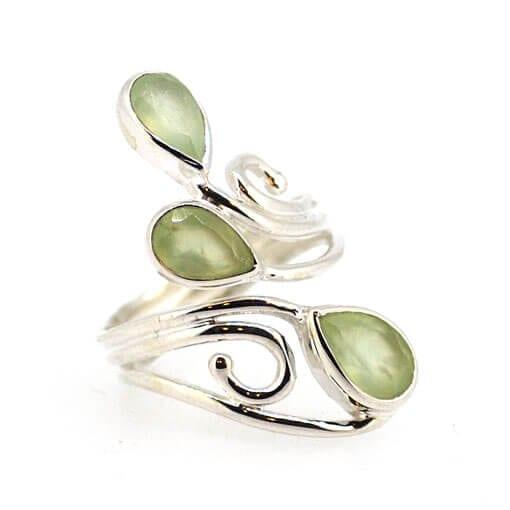 Prehnite Ring Size L/M