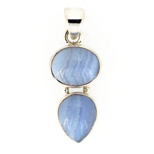 Blue Lace Agate Pendant 2.6 grams