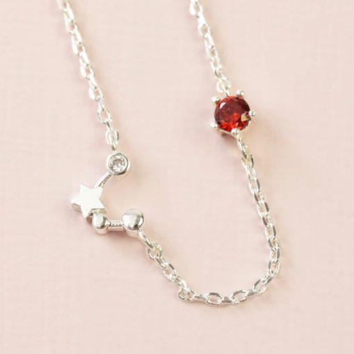 CAquarius Constellation & Birthstone Necklace