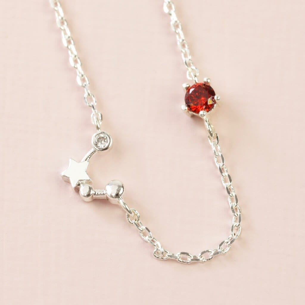CAquarius Constellation & Birthstone Necklace