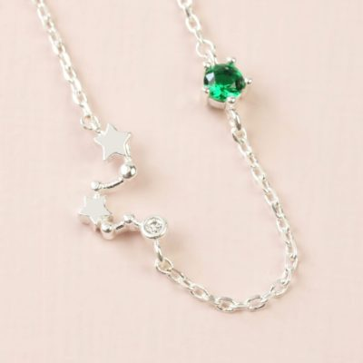 Gemini Constellation & Birthstone Necklace